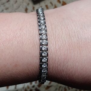 Jewelry - Beautiful Sterling Silver CZ Tennis Bracelet!!!